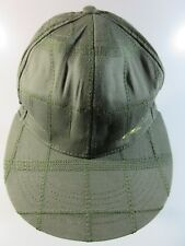 O'Neill Textured Men's Women's Ball Cap Green Check Print 100% Cotton Med 7 3/8