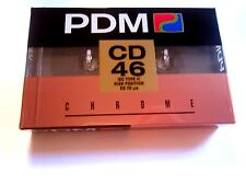CASSETTE TAPE BLANK SEALED - 1x (one) PDM CD 46 [1990-92] made in Switzerland