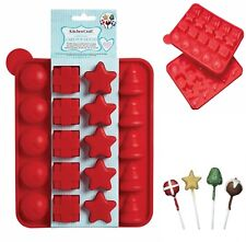 christmas cake pop mould festive treat lollipop baking star tree present pudding