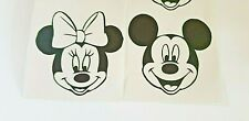 8 x Mickey & Minnie Mouse Faces Disney Vinyl Decal Stickers Wine Glasses Crafts