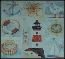 1 x Lighthouse Ship Paper Napkins Decoupage Scrapbooking Card Collage Crafts