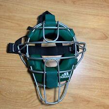 Adidas Pro Issue Baseball Catchers Umpires Mask Green Silver AZ5066