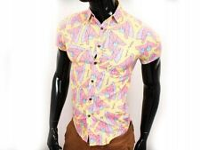 *W TopMan Mens Shirt Short Sleeve Pattern size XS
