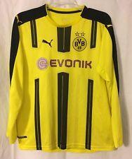 Borussia Dortmund 2016-2017 Yellow Puma Jersey #17 Aubameyang Fits S/M