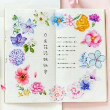 45pcs Flowers Scrapbooking Stickers Stationery DIY Journal Notebook Paper Crafts