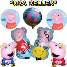 Lot of 6 Peppa Pig George Balloon USA Shipping Happy Birthday Party balloons