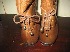 Luxus Stiefeln, Echtleder, Farbe Cognac, Reitdesign, Gr. 39,