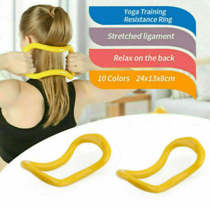 Yoga Circle Stretch Resistance Ring Pilates Bodybuilding Fitness Workout ZB