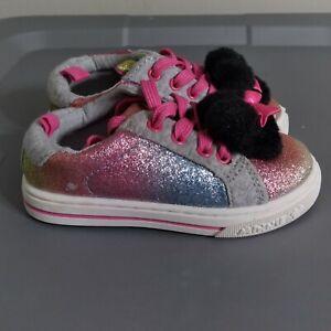 Disney Junior Minnie Mouse Little Girls Toddler Size 7 Shoes Multicolor Sneaker