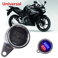 Universal Red Blue LED Digital Tachometer Voltmeter Gauge for Motorcycle Bike