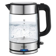 Ovation 1.7L Electric 360° Cordless Glass Kettle w/Boil Dry Protection/Auto Off