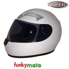 Cascos integrales color principal blanco de motocicleta para conductores