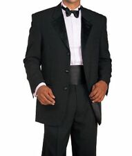 Men's 2 Piece  White & Black Tuxedo  Suit 3 Botton Style T-802