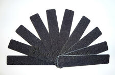 "10pc Nail File Black Jumbo 100/100 Grit Square Shape 7x1"" Plastic Sanding File"