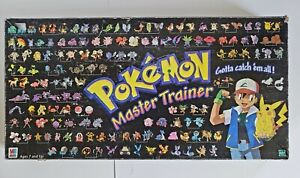 Pokemon Master Trainer Game Board 1999 Edition Hasbro COMPLETE