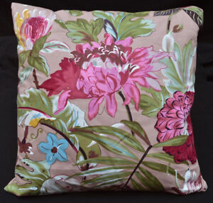 LF806a Teal Gray Red Pink Brown Blue Cotton Canvas Cushion Cover/Pillow Cover