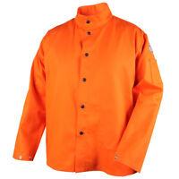 """Revco Black Stallion 9 oz FR 30"""" Orange Cotton Welding Jacket Size 4XL"""