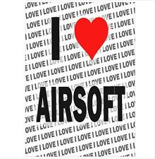 Me encanta Airsoft-A3 Poster-Regalo Cumpleaños Navidad Stocking Relleno