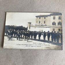 T) Postcard Military Format Small Perugia 1909 Brigade Alps C