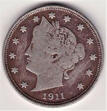 1911 USA Liberty Head 5 Cent Coin