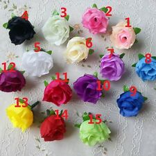 Fashion 100PCS Rose Head Artificial Silk Flower Heads Wedding Party Decoration