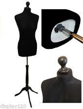 BLACK Size 6 Female Dressmaking Mannequin Window Dummy Tailors Bust Dressmaker