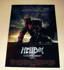 """HELLBOY II : GOLDEN ARMY CASTX2 PP SIGNED POSTER 12""""X8"""""""