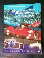 The official program of Grand Prix Player's of Trois-Rivieres 2000