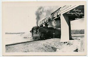 Railroad Train , Longlac Bridge ON Canada  Photo Postcard