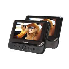 "Sylvania 7"" Dual Screen Portable Dvd Player for Cars Black Sdvd7750"