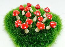 20 Tiny 2 design Red Mushroom Miniature Dollhouse Fairy Garden Accessories
