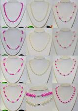 Runde Modeschmuck-Halsketten & -Anhänger aus Glas mit Perlen