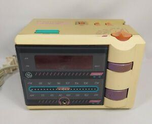 Vintage P'jammer GE Alarm Clock Radio Model 7-4607WHA Retro 80's 90's