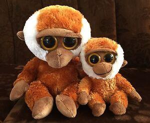 """TY Beanie Boo x 2 Brown Gorilla Bongo 6""""+ 9"""" Boys Girls Plush Toys Rare!!"""