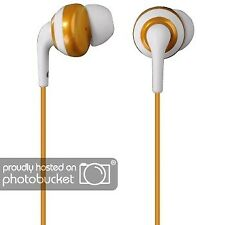 Hama In-Ear-Kopfhörer Silikon Stereo-Ohrhörer Gold-Weiß