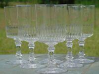 Baccarat - Service de 6 verres à eau en cristal taillé