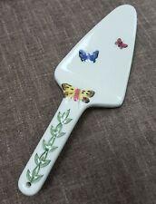 NWT Portmeirion Cake Server Botanic Garden Collection Butterflies