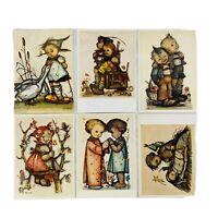 Vintage Hummel Postcard Lot of 6 Joseph Mueller Emil Fink Made in Germany