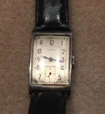 1930's Vintage Omega tank watch Stainless Steel with early waterproofing