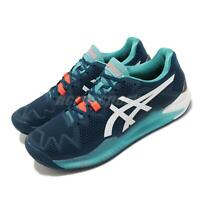 Asics Gel-Resolution 8 Clay Mako Blue White Men Tennis Shoe Sneaker 1041A076-401