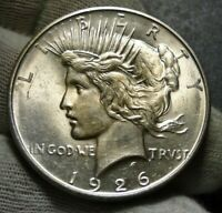 1926D Peace Silver Dollar $ - Very Nice Coin, Free Shipping (9510)