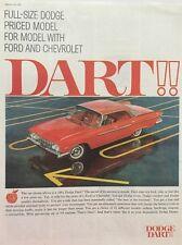 1961 Dodge Dart Parking Lot Lines  11x14 Vintage Advertisement Print Car Ad LG52
