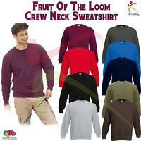 Fruit of the Loom Men's Premium Set-in Sweatshirt Crew Neck Jumper Pullover Top