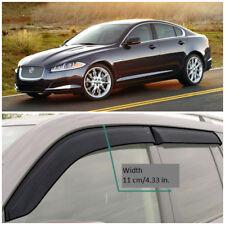 JE20208 Window Visors Sun Guard Vent Wide Deflectors For Jaguar XF Sd 2008-2015