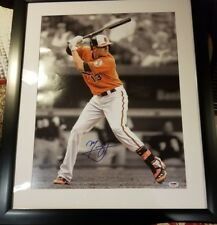 orioles manny machado autographed framed 16x20 photo. psa/dna