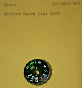 Canon SHUTTER SPEED DIAL ASSY 18-0588-000 Spare Part ricambio