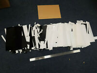 6kg off cuts mostly 0.25,0.5,1,1.5, 2, & 3mm Thick Plasticard HIPS Black & White