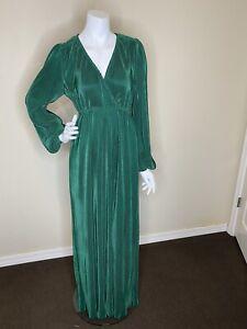 NEW baltic born dark green ribbed long sleeve maxi dress sz s