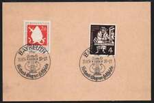 Bund Nr. 198 + 199 Blankokarte m. SST BAYREUTH Wagner Festspiele 20.8.54 (41438)