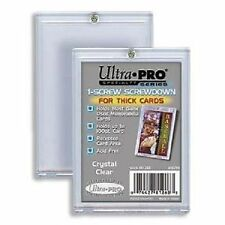 (5) Ultra Pro 1-Screw Extra Thick Screwdown Trading Card Holders 100pt Jersey